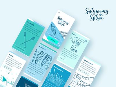 Canoeists' Guide branding illustration webpage design