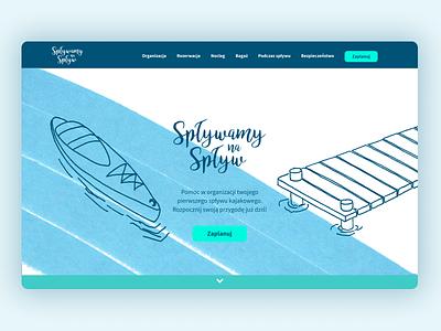 Canoeists' Guide landingpage landing webpage
