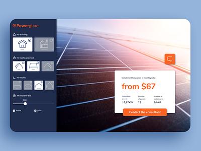 Solar Panels Calculator calculator calc design webpage ux