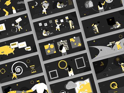 Blog illustrations - Software Development figma graphicdesign poland europe development softwaredevelopment software outsourcing vector webdesign web webdevelopment blog illustrations illustraion