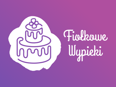 Bakery Logo Design - Fiołkowe Wypieki identity graphic design typography vector bakery illustration branding logo