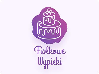 Bakery Logo Design - Fiołkowe Wypieki logo branding illustration bakery vector typography graphic design identity