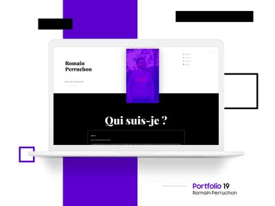 Personnal Portfolio 19