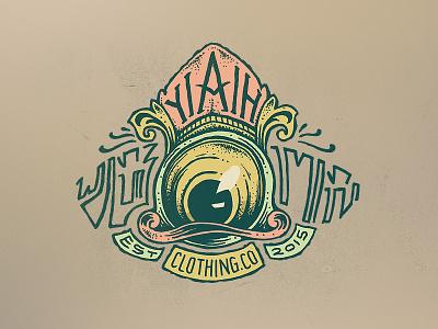 Yiaih the Watcher illustration ink clothing eye badge sticker t-shirt