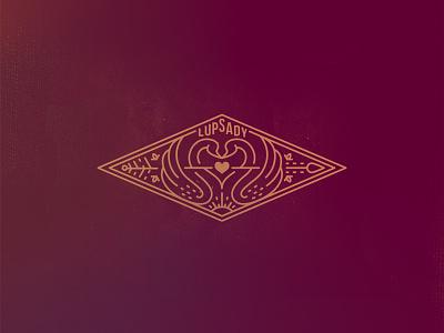 Lupsady wedding line sticker logo emblem