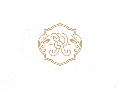 Royal  bird photography wedding monogram logo