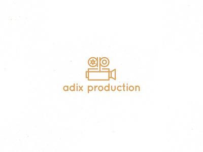 Adix graphic design video camera logo