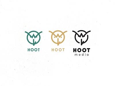 Hoot Media graphic design logo design animal owl