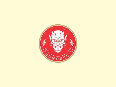 Thundervil Badge graphic design emblem badge logo