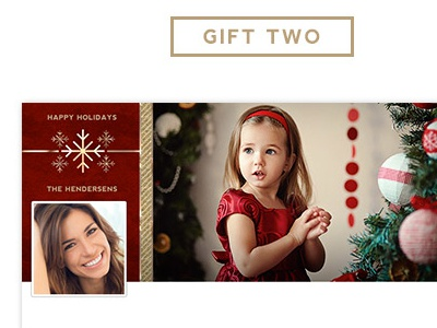 Free PSD holiday templates gold luxe foil minimal psd template photography