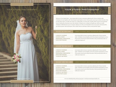 photography price list template by jessica johnson dribbble