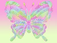 pastel neon butterfly