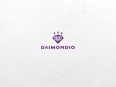 Daimondio radek blaska logo design mark diamond diomondio elegant fashion simple