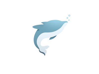 Dolphin Logo sea blue illustration logo dolphin