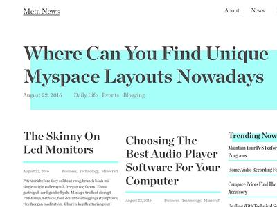News Blog Layout text display chronicle news magazine