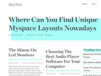 News Blog Layout