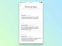 Design Excercise - Cleaning Service App