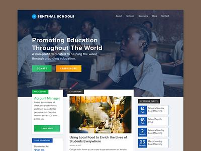 Nonprofit School WIP education school nonprofit wip portfolio