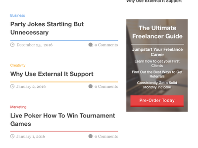 Freelance Jump sitepoint wordpress responsive content blog