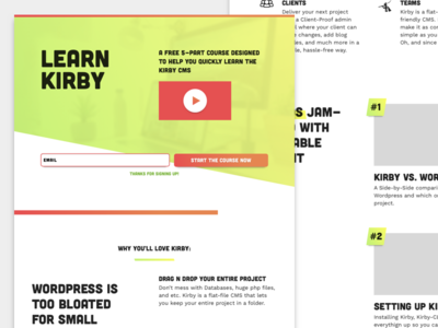 Learn Kirby Landing Page
