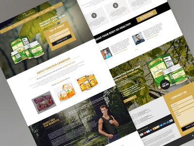 Produce Template - Product Landing Page product suppliment organic landing page marketing page onepage webdesign