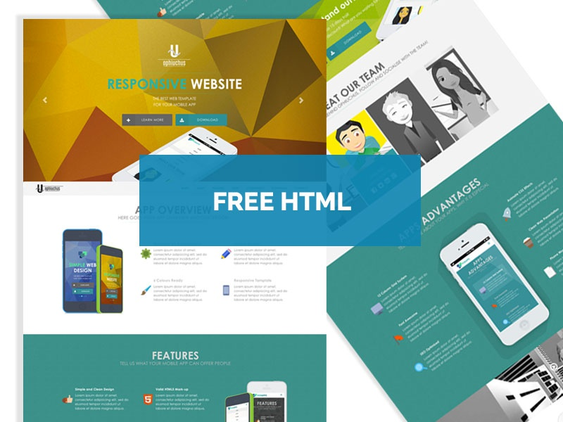 Free - Ophiuchus HTML5/CSS3 Template free flat website css3 html5 free template