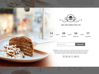 Food/Resto/Bar Coming Soon Landing Page
