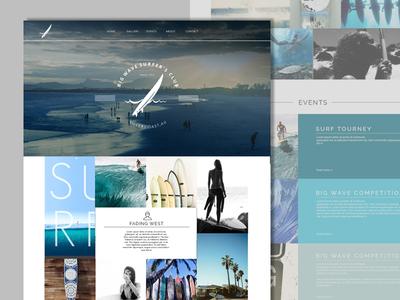 Palm Surf  - Blog/Community Site Landing Page