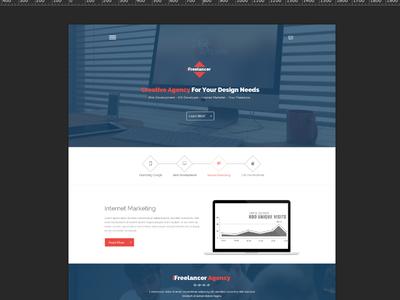 WIP - Flatstyle Web Design flat flat web design portfolio agency modern