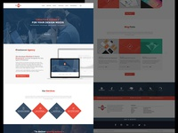Another Free Flat Web Design Psd