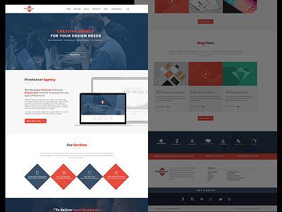 Another Free Flat Web Design Psd flat flat web design portfolio agency modern free psd