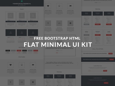 Free Minimal UI Kit - HTML READY
