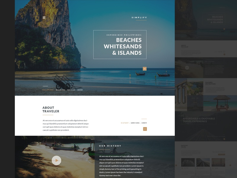 Travel Agency Style travel agency web design modern