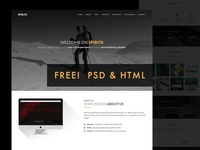 Freebie - Spirit8 HTML Template