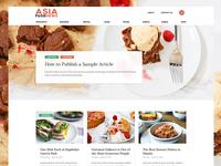 Home - Food Magazine Web Design - Draft#1