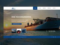 Fullscreen Homepage for an Engineeing Website