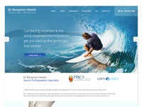 A Web Design for a Sports Orthopaedics Specialist