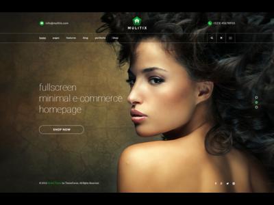 Fullscreen Homepage - Minimal e-commerce.