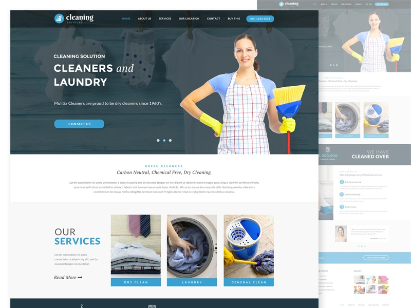 Cleaning Services Web Design services washing house keeping web design laundry cleaning