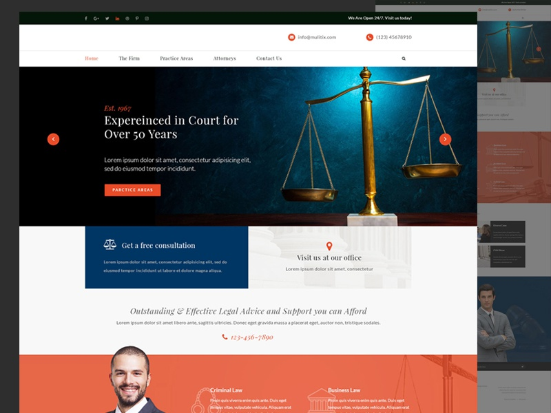 Law/Attorney Web Design attorney law firm lawyer web design