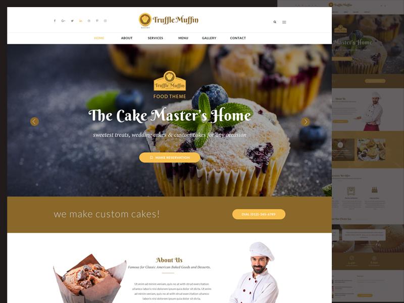 Bakery Web Design modern classic clean minimal bakery web design