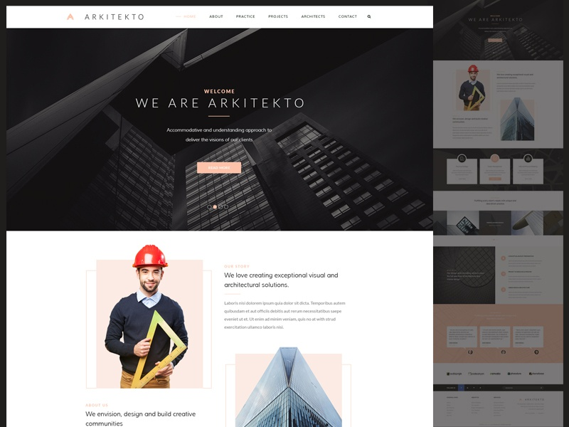 Web Design for Architects modern clean minimal interior design architecture web design