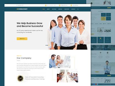 Consulting Web Design minimal design. consulting business web design