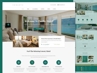 Hotel Web Design modern classic clean minimal travel hotel web design