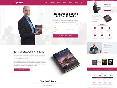 eBook Landing Page wordpress theme web design ebook landing page