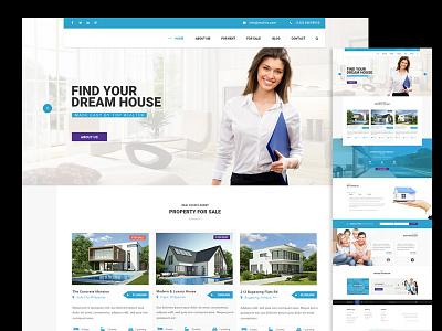 Realtor Web Design homes minimal clean modern real estate web design