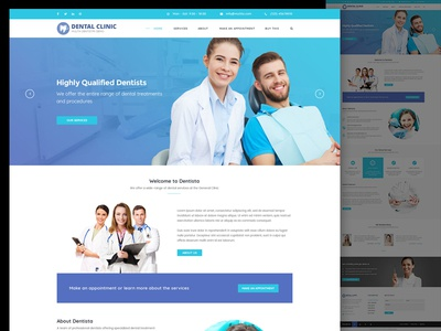 Dental Clinic Web Design Demo by Jenn Pereira - Dribbble