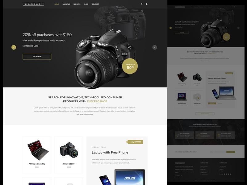 Electronic Shop Demo ecommerce electronic shop gadgets web design