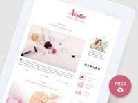 Freebie - Angilla - Minimal WordPress Blog Theme