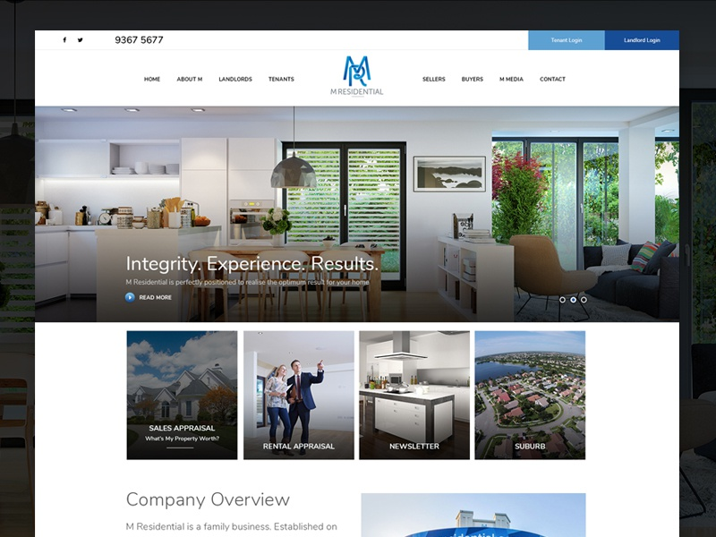 Minimalist Real Estate Web Redesign homes minimal clean modern real estate web design